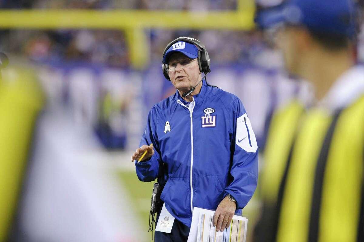 New York Giants head coach Tom Coughlin.