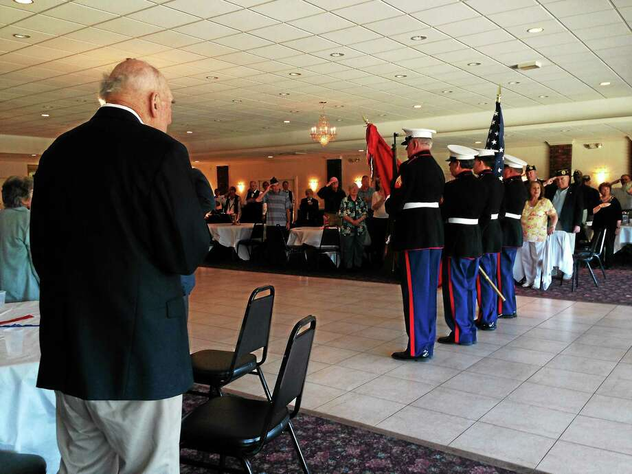 A special D-Day remembrance ceremony was held at the Middletown Elks Lodge on June 1. Photo: Julie Rancourt — Special To The Press