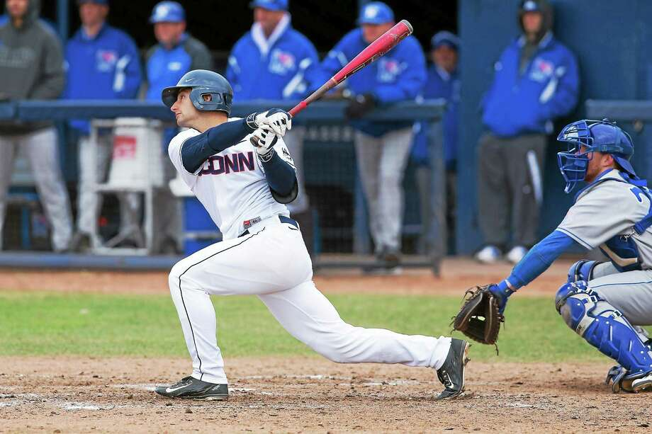 "Woodbridge's Vinny Siena just completed his junior year at UConn. Huskies coach Jim Penders calls him a ""pro second baseman."" Photo: Photo Courtesy Of UConn Athletics  / Stephen Slade"