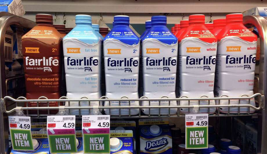 Fairlife milk products appear on display in the dairy section of an Indianapolis grocery store. Photo: Michael Conroy — The Associated Press  / AP
