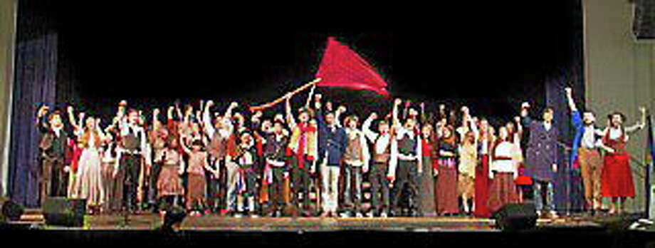 "Submitted photo - Old Saybrook High School The cast of ""Les Miserables"" at Old Saybrook High School is ready to perform for the community. Photo: Journal Register Co."