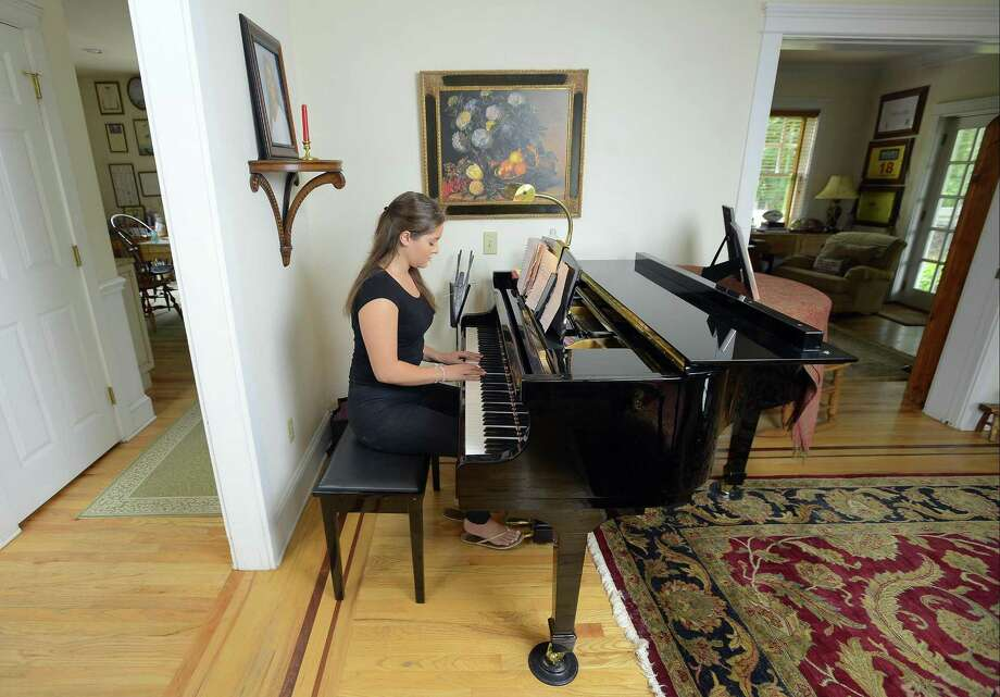 Mary Andrews is photograph on Friday, July 28, 2017 at her home in Greenwich, Connecticut. Andrews is following her dream to become a professional singer/ songwriter. Photo: Matthew Brown / Hearst Connecticut Media / Stamford Advocate