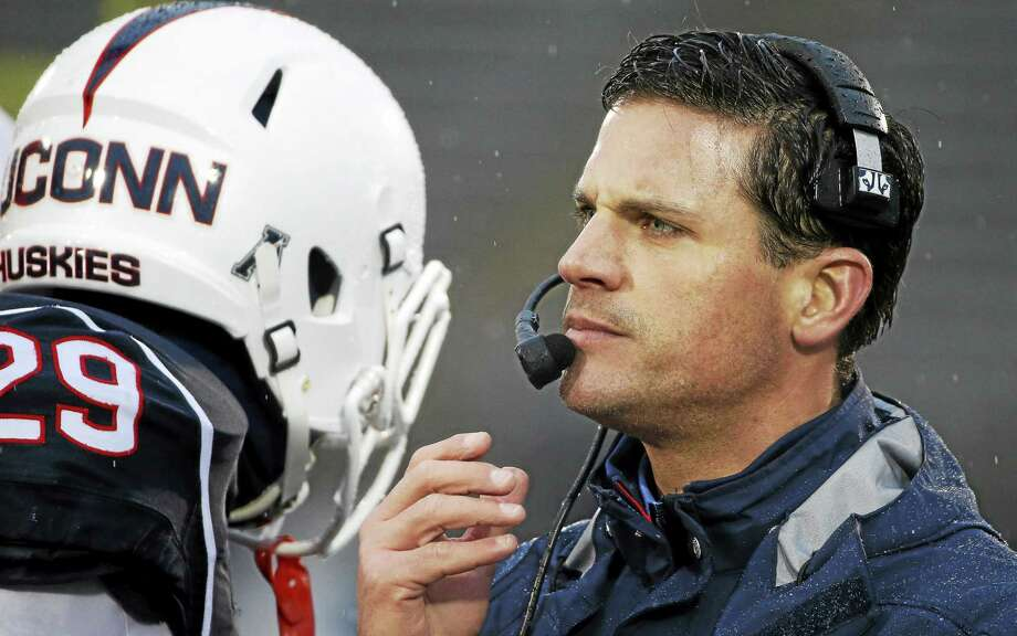 "UConn head football coach Bob Diaco took it upon to himself to contruct ""The Civil Conflict"" with Central Florida. Photo: Michael Dwyer — The Associated Press File Photo  / AP"