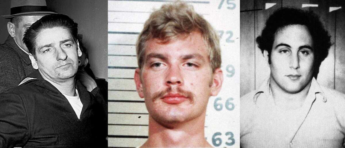 This file photo combo shows from left to right serial killers the Boston Strangler Albert DeSalvo, Jeffrey Dahmer, and Son of Sam killer David Berkowitz. Several studies show that most serial killers start their lives as sociopaths by torturing or killing pets. For years, the FBI has filed animal cruelty crimes with a variety of others under the heading of ìother,î making them hard to find, hard to count and hard to track. Thatís changing. The FBI announced this month it would make animal cruelty a Group A felony with its own category, the same way crimes like homicide, arson and assault are listed in the agencyís Uniform Crime Report Program. (AP Photo)