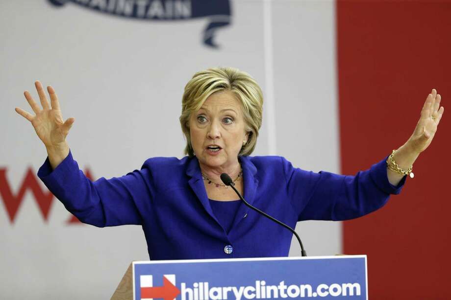 In this Sept. 22, 2015 photo, Democratic presidential candidate Hillary Rodham Clinton speaks during a community forum on healthcare in Des Moines, Iowa. Photo: AP Photo/Charlie Neibergall, File  / AP