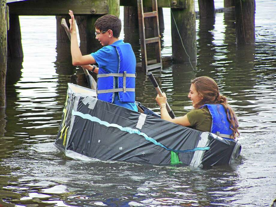Life at Sea campers experiment, build and test their boat designs. Photo: Submitted Photo