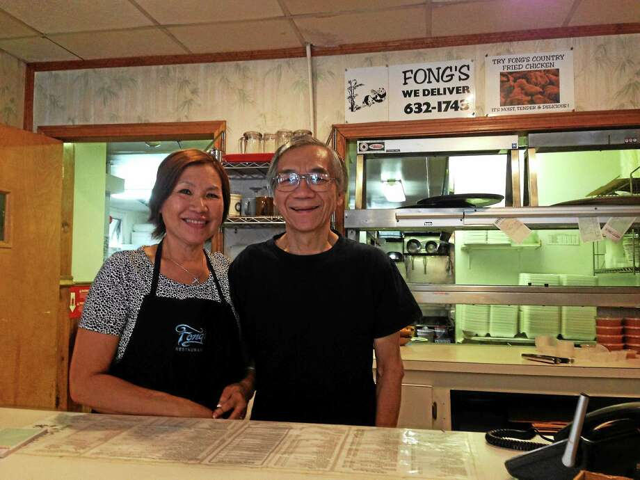 John Fong and Stella Fong, owners of Fong's Restaurant on Smith Street in Middletown, retired after 33 years and closed the eatery this fall. Photo: Kaitlyn Schroyer - The Middletown Press