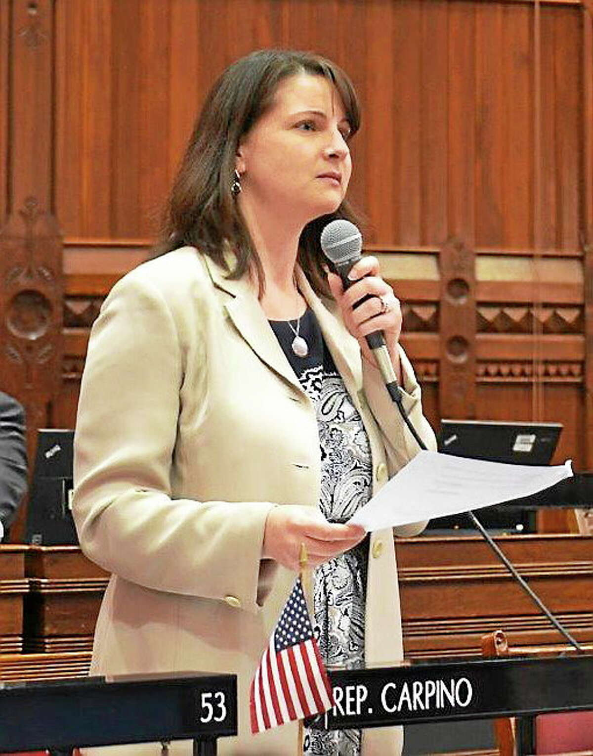 State Rep. Christie Carpino, R-Cromwell and Portland