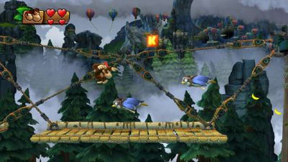 "A screenshot from ""Donkey Kong Country: Tropical Freeze."""