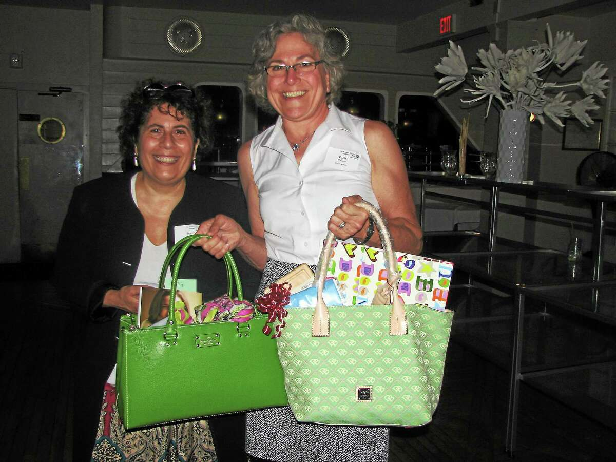Submitted photo Jean DíAquila, chair of the Middlesex United Way Womenís Initiative, with Carol Wallace, CEO of Cooper-Atkins Corp. at last yearís Power of the Purse event.
