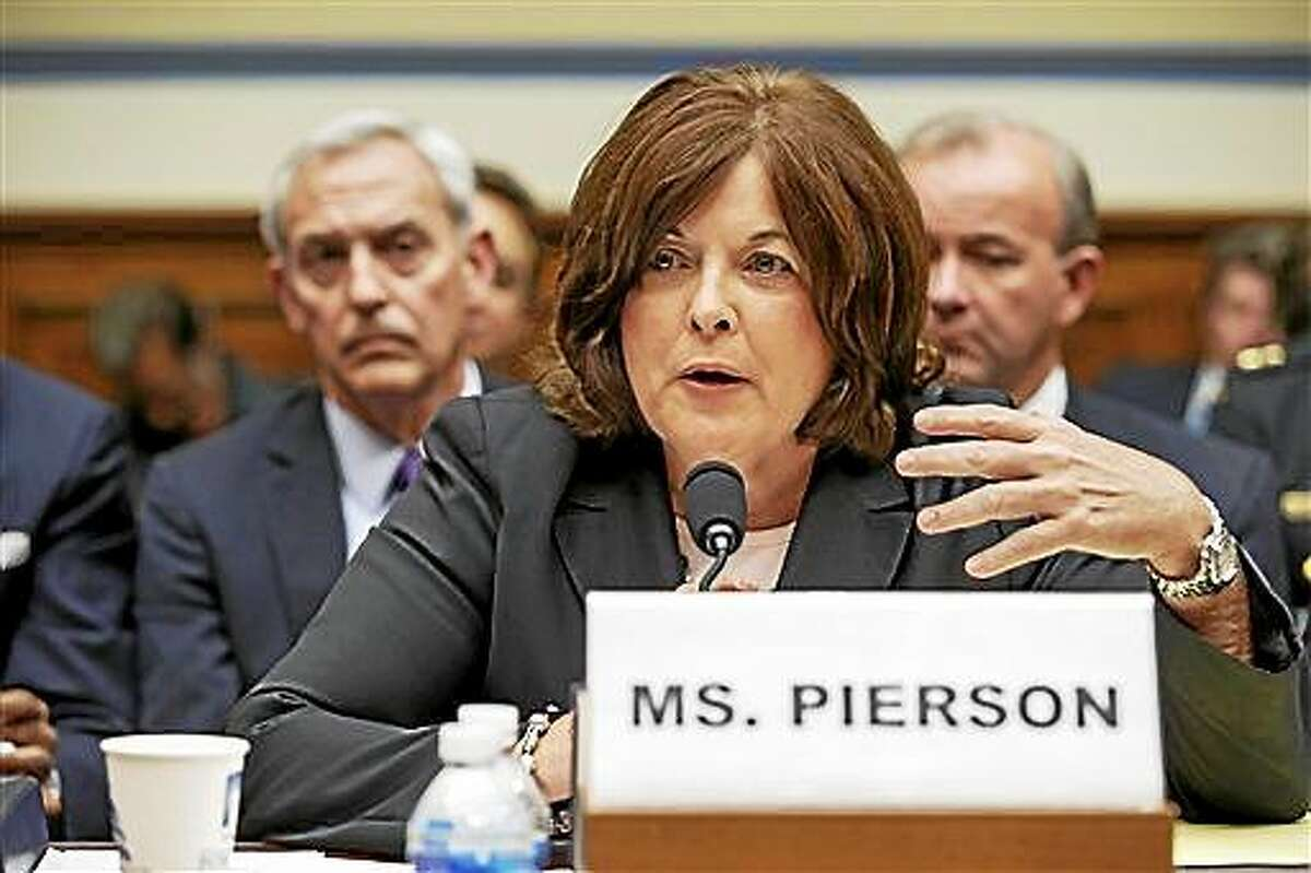 In this Sept. 30 file photo, Secret Service Director Julia Pierson testifies on Capitol Hill in Washington. Secret Service Director Julia Pierson has resigned amid recent White House security breach.