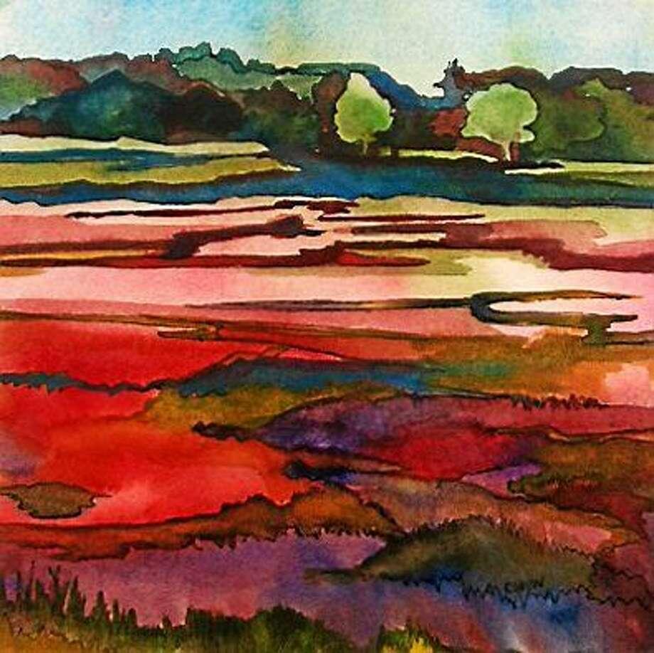 Image courtesy of the artist  Salt Marsh by Claudia Van Nes. Photo: Journal Register Co.