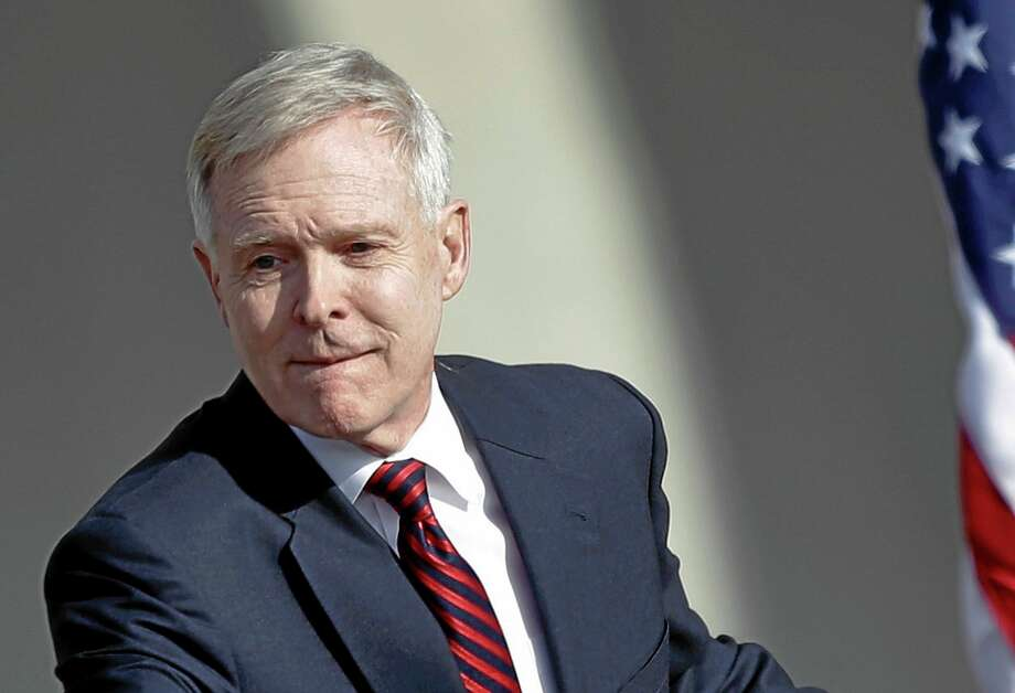 In this Jan. 9 photo, Secretary of the Navy Ray Mabus attends an event at the General Dynamics NASSCO shipyard in National City, California. Photo: Lenny Ignelzi — The Associated Press  / AP