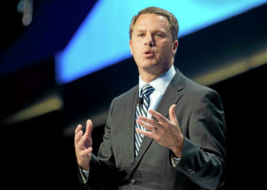 Doug McMillon, president and CEO of Wal-Mart Stores Inc., speaks during the annual Wal-Mart Shareholders meeting in Fayetteville, Arkansas, Friday. Photo: Sarah Bentham — The Associated Press  / FR171072 AP