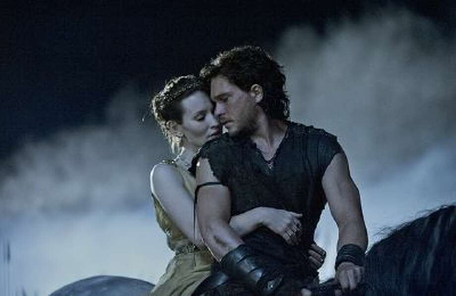 "Milo (Kit Harington) and Cassia (Emily Browning) in TriStar Pictures' ""Pompeii."" (Sony Pictures Entertainment)"