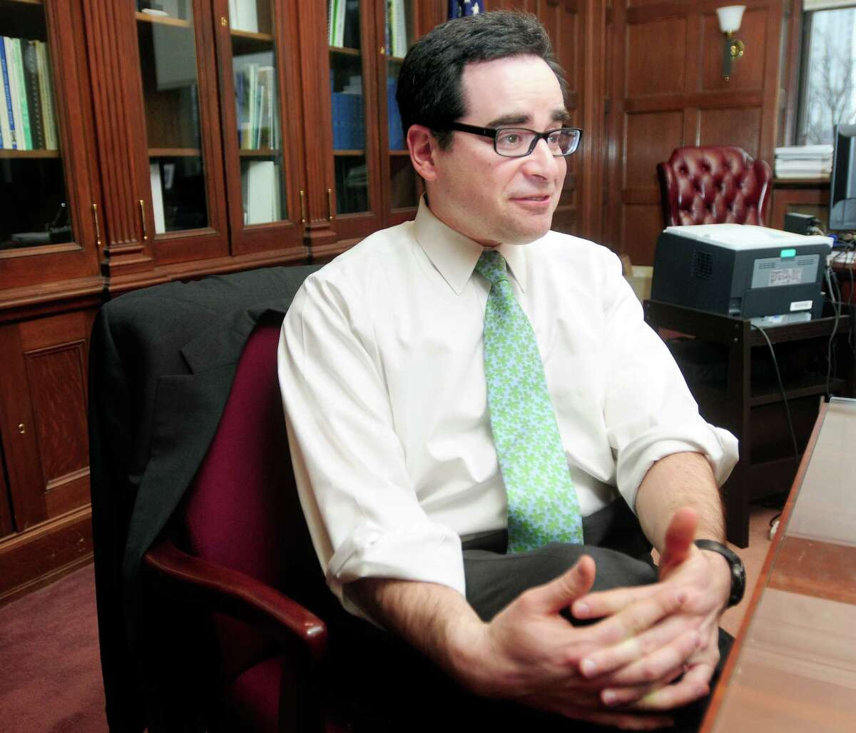 Robert Klee, selected by Gov. Dannel P. Malloy to be the next DEEP commissioner, is interviewed in his office in Hartford Wednesday.