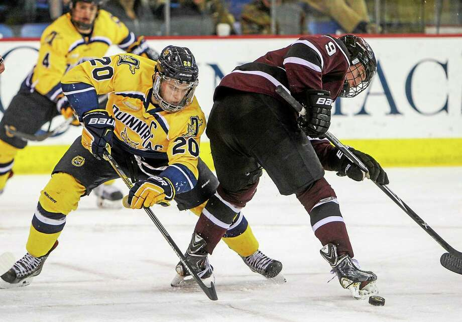 Matthew Peca will leave Quinnipiac as one of the best Bobcats to ever put on skates. Photo: Register File Photo