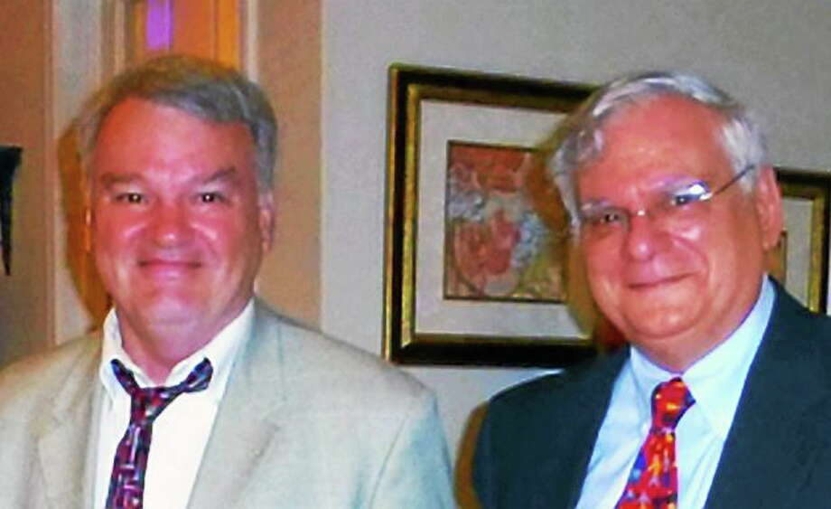 Submitted photo From left are James H. Smith and Don DeCesare. Photo: Journal Register Co.