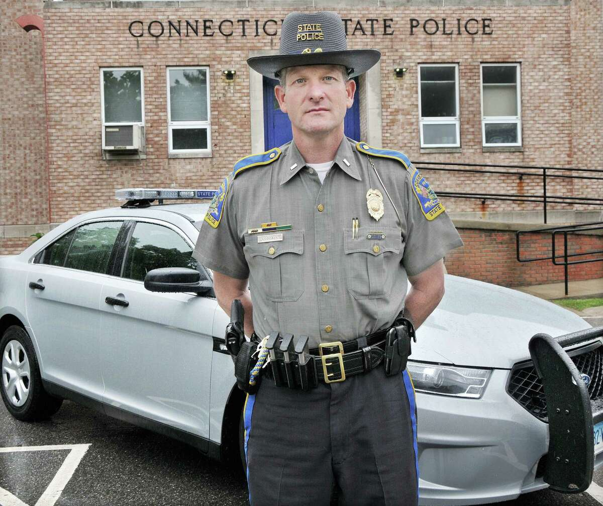 Catherine Avalone - The Middletown Press Lt. Arthur K. Goodale is the new commanding officer of all the resident troopers in Troop F at the Connecticut State Police in Westbrook. Goodale, 49, of Marlborough, has been in law enforcement for 25 years, beginning as a constable in Colchester in July 1989. Some of Goodale's responsibilities at Troop F will include overseeing day to day operations and being a liaison with ten towns in the area.