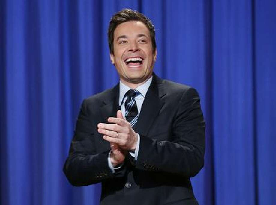 "This April 4, 2013 file photo released by NBC shows Jimmy Fallon, host of ""Late Night with Jimmy Fallon,"" in New York. Fallon will debut as host of his new show, ""The Tonight Show with Jimmy Fallon,"" on Feb. 17. Photo: AP / AP2013"