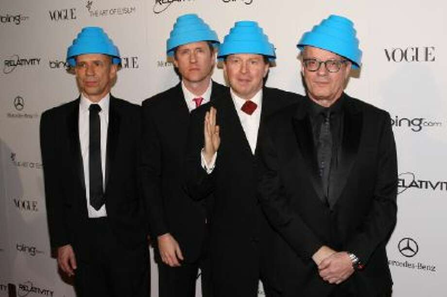 Bob Mothersbaugh, Bob Casale, Gerald Casale and Mark Allen Mothersbaugh of Devo attend a gala on Jan. 15, 2011 in Los Angeles.