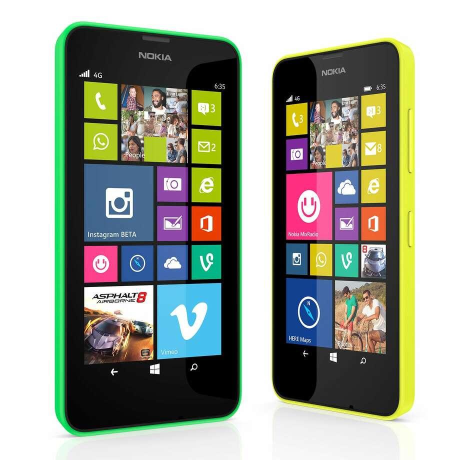 The Lumia 635 smartphone. Photo: The Associated Press — MICROSOFT  / Microsoft
