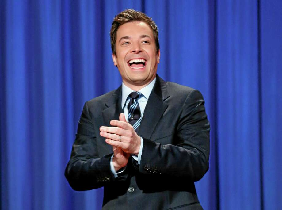 """FILE - This April 4, 2013 file photo released by NBC shows Jimmy Fallon, host of """"Late Night with Jimmy Fallon,"""" in New York.  Fallon will debut as host of his new show, """"The Tonight Show with Jimmy Fallon,"""" on Feb. 17. (AP Photo/NBC, Lloyd Bishop, File) Photo: AP / NBC"""