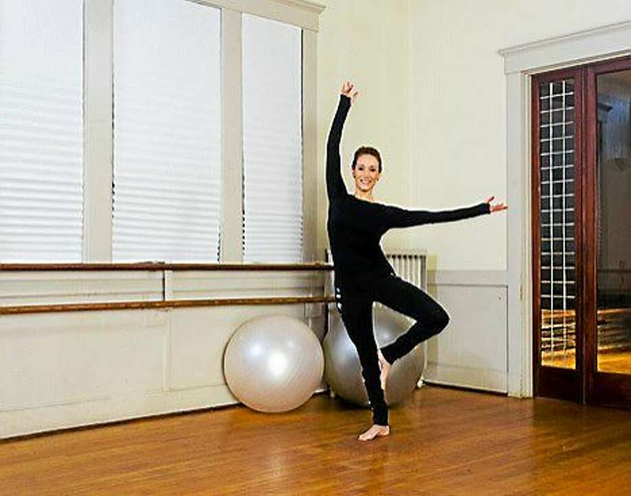 "Spadaccino is shown on the set of one of her two fitness DVDs which use ""joyful movement"" for cardio benefits and sculpting results. Photo: Courtesy MoveJoyfully.com"