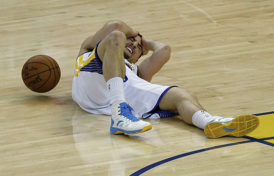 Golden State Warriors guard Klay Thompson has been cleared to play in the NBA Finals. Photo: Tony Avelar — The Associated Press  / FR155217 AP