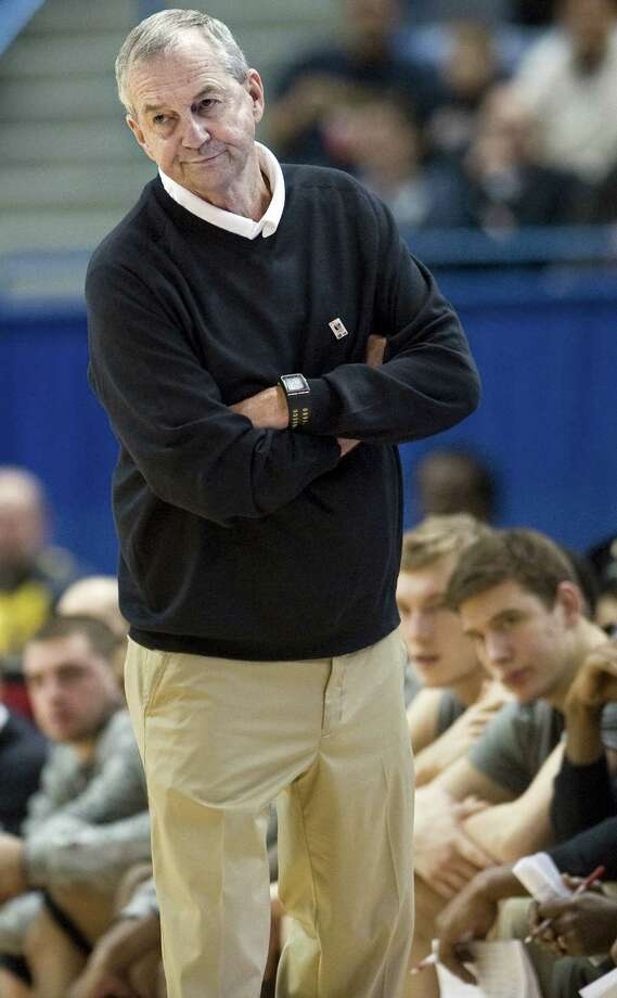 FILE - In this Jan. 29, 2012,, file photo, Connecticut head coach Jim Calhoun watches play in the second half of an NCAA college basketball game against Notre Dame in Hartford, Conn. Calhoun is taking an indefinite medical leave of absence, the school announced Friday, Feb. 3, 2012. The Hall of Fame coach, who turns 70 in May, has been suffering for several months from spinal stenosis, a lower back condition that causes him severe pain and hampers mobility, the school said Friday in a news release. Photo: THE ASSOCIATED PRESS FILE PHOTO Former UConn Head Coach Jim Calhoun Does Not Like The Current Syste / AP2012