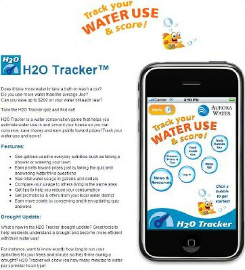 H20 Tracker awards points by correctly answering quiz questions such as whether more water is spent taking a bath or washing a car.