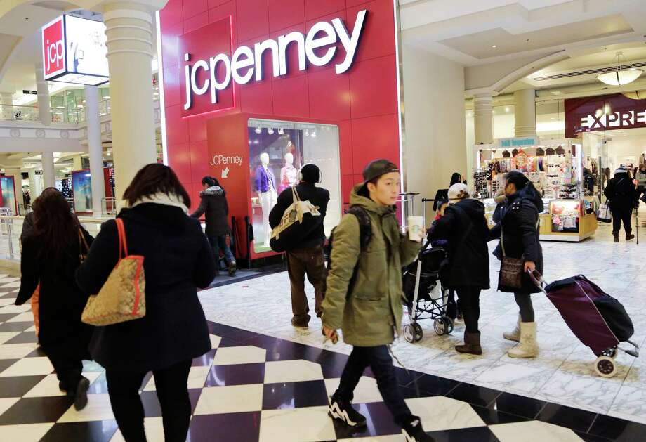 FILE - In this Feb. 19, 2015, file photo, shoppers visit a J.C. Penney store in New York. The Texas-based retailer reports quarterly financial results, Friday, Nov. 13, 2015. Photo: THE ASSOCIATED PRESS / AP