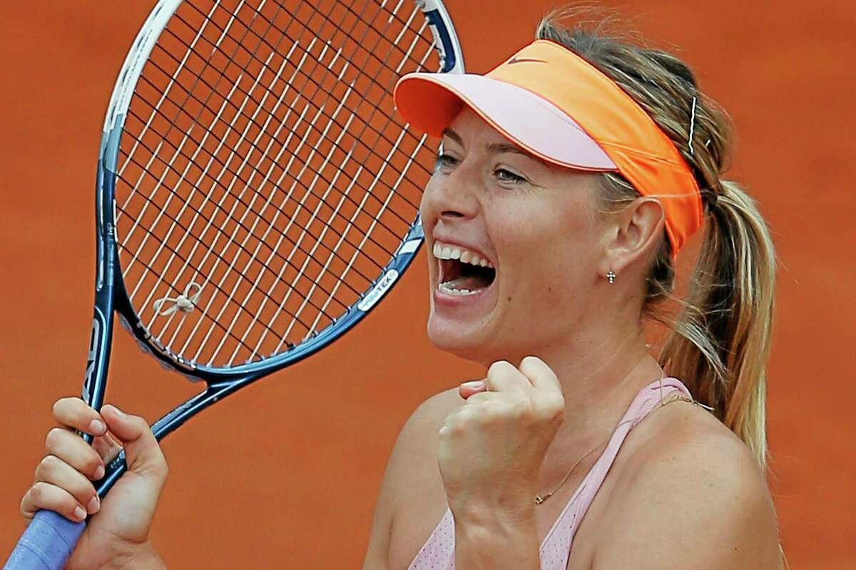 Maria Sharapova beat Garbine Muguruza in the quarterfinals of the French Open at the Roland Garros stadium in Paris, on Tuesday. Sharapova won in three sets 1-6, 7-5, 6-1.