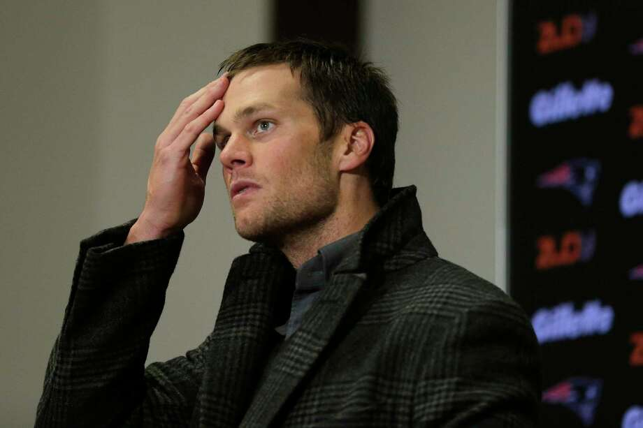 New England Patriots quarterback Tom Brady listens to a question from the media after Monday's game against the Buffalo Bills. Photo: Charles Krupa — The Associated Press  / AP