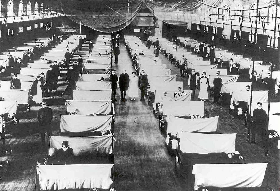 "Office of Public Health historian ""Are We Prepared For The Next Great Pandemic?"" is the title of a talk to be given by Yale's Dr. Steven Latham at Essex Town Hall at 29 West Ave., on March 6. This photo shows a flu ward during the Influenza pandemic of 1918, in which an estimated 30-50 million people died globally. Photo: Journal Register Co."