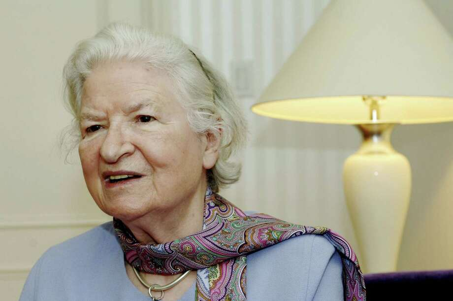 "This is a  Nov. 27, 2005 file photo of author P.D. James as she discusses her latest novel, ""The Lighthouse,"" another mystery featuring Scotland Yard detective Adam Dalgliesh, during an interview in New York. Photo: Associated Press  / AP"