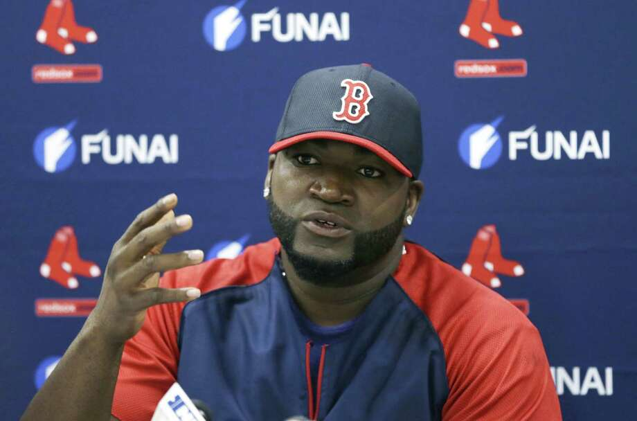 """Red Sox designated hitter David Ortiz says he """"never knowingly took any steroids"""" and he's definitely a Hall of Famer.  The remarks by the 39-year-old designated hitter come in a column Thursday for The Players' Tribune, a website founded by Derek Jeter that gives professional athletes a platform. Photo: The Associated Press File Photo  / AP"""