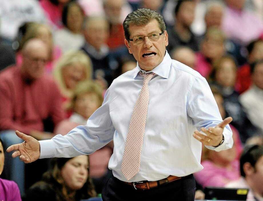 Coach Geno Auriemma finds his UConn women's basketball team short-handed once again, but still undefeated and No. 1 in the nation. Photo: Jessica Hill — The Associated Press  / FR125654 AP