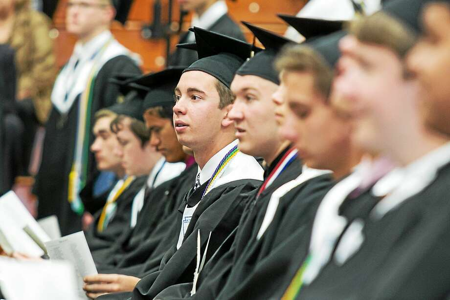 Sandy Aldieri - Special to the Press  Xavier High School held its commencement ceremonies on Sunday May 31, 2015, in Middletown. Photo: Journal Register Co. / Perceptions Photographyy