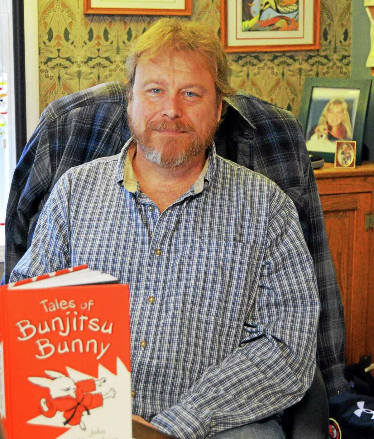 "John Himmelman of Killingworth's latest book is ""Tales of Bunjitsu Bunny."""