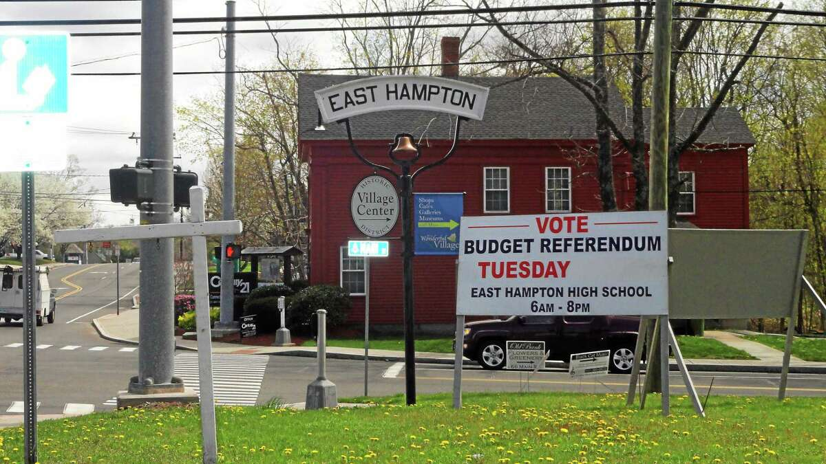Cassandra Day - The Middletown Press East Hampton's second budget referendum is Tuesday.