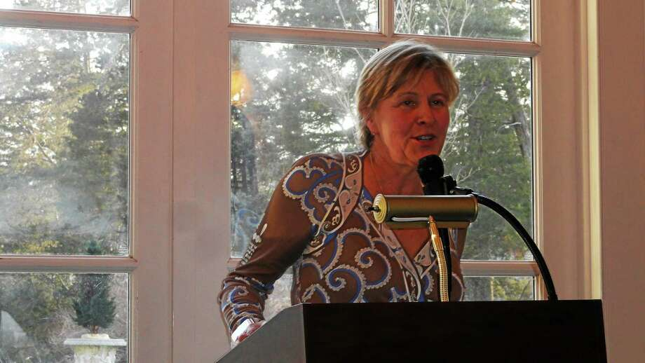 An Arts Advocacy Award was presented to executive director Deborah Moore at the Wadsworth Mansion in Middletown earlier this year. Photo: Cassandra Day —  The Middletown Press