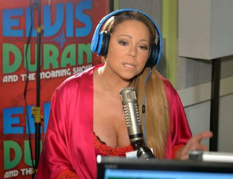 Mariah Carey visits 'The Elvis Duran Z100 Morning Show' at Z100 Studio on February 12, 2014 in New York City.