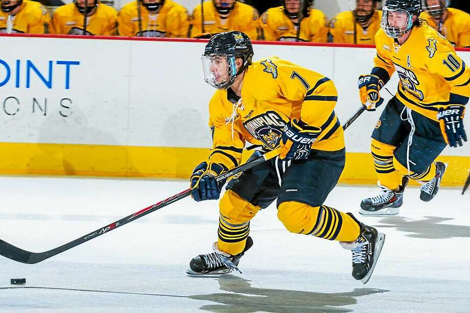 Quinnipiac will likely be without leading scorer Sam Anas Friday night against North Dakota in an NCAA West Regional. Photo: Photo Courtesy Of Quinnipiac Athletics  / Copyright John Hassett 2014. All rights reserved.
