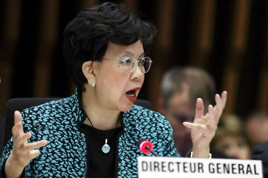 In this Jan. 25 file photo, China's Margaret Chan, director general of the World Health Organization, WHO, addresses her statement during the special session of the Executive Board on Ebola, at the headquarters of the WHO in Geneva, Switzerland. An experimental vaccine tested on thousands of people in Guinea exposed to Ebola seems to work and might help shut down the ongoing epidemic in West Africa, according to interim results from a study published Friday. Photo: Salvatore Di Nolfi/Keystone Via AP, File / KEYSTONE
