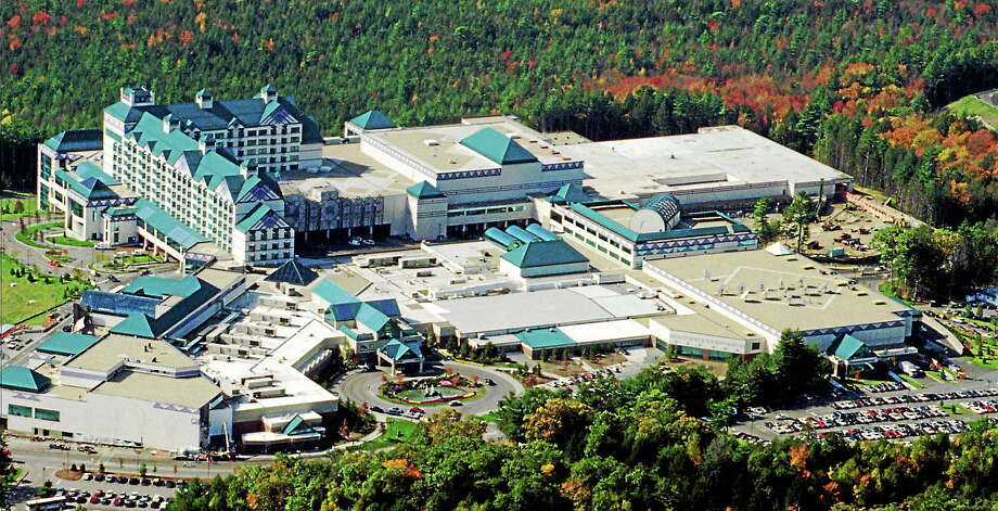 Aerial view of the Foxwoods Resort Casino on the Mashantucket Pequot Indian Reservation in Ledyard, Conn. Photo: (Bob Child — The Associated Press)