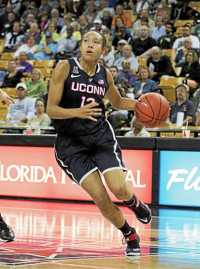 UConn guard Saniya Chong. Photo: The Associated Press File Photo  / Reinhold Matay