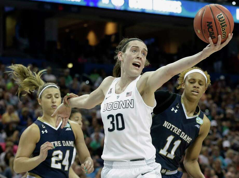 UConn's Breanna Stewart needs 16 points to become the ninth player in program history with 2,000 career points. Photo: The Associated Press File Photo  / AP