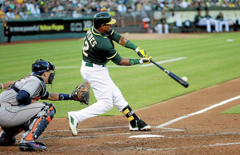 The Oakland Athletics traded Yoenis Cespedes to the Boston Red Sox on Thursday. Photo: The Associated Press  / AP