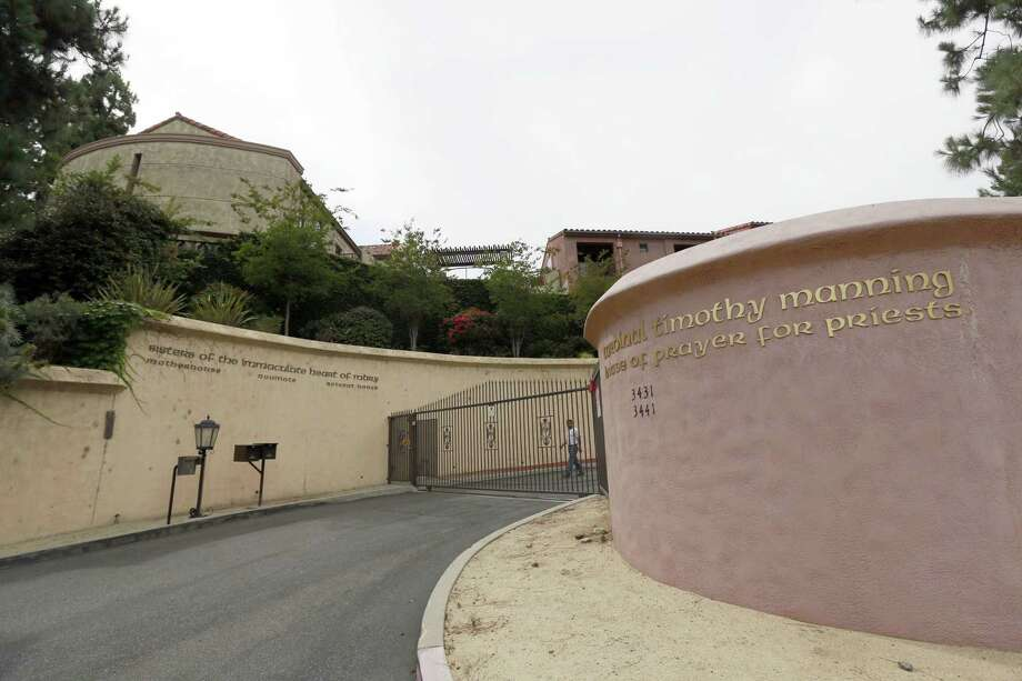 This June 29 file photo shows the Sisters of the Immaculate Heart of Mary property in the Los Feliz area of Los Angeles. A Los Angeles judge is scheduled to hear arguments on Thursday about who has the right to sell a hilltop convent that is the subject of competing offers from pop superstar Katy Perry and a local businesswoman. The dispute has pitted Los Angeles' Catholic archbishop against an order of elderly nuns with only five surviving members, at least two of whom oppose selling their former home to Perry. Photo: AP Photo/Nick Ut, File / AP